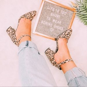 Shoes - I Luv My Kitties | Leopard Chunky Block Heels